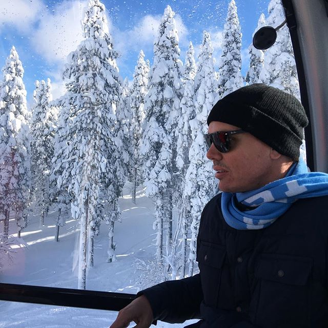 Alister Scott on the gondola at Northstar