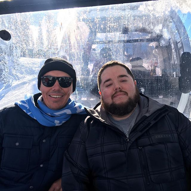 Alister and I on a gondola at Northstar