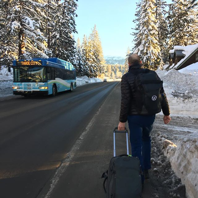 See you later Lake Tahoe. Heading to the airport shuttle with @enejbajgoric