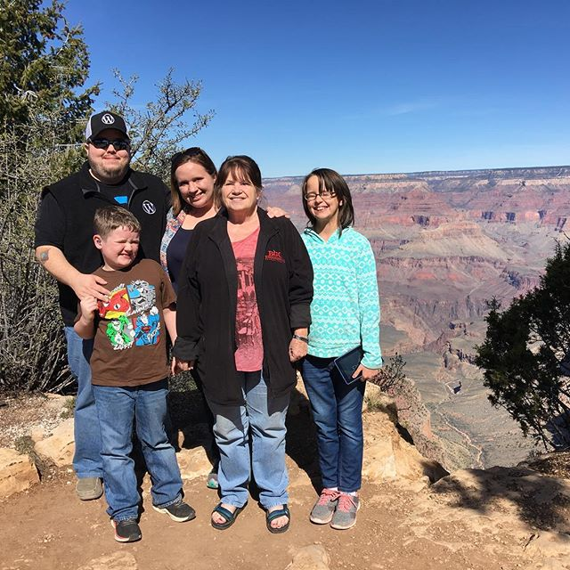 Group photo at the Grand Canyon
