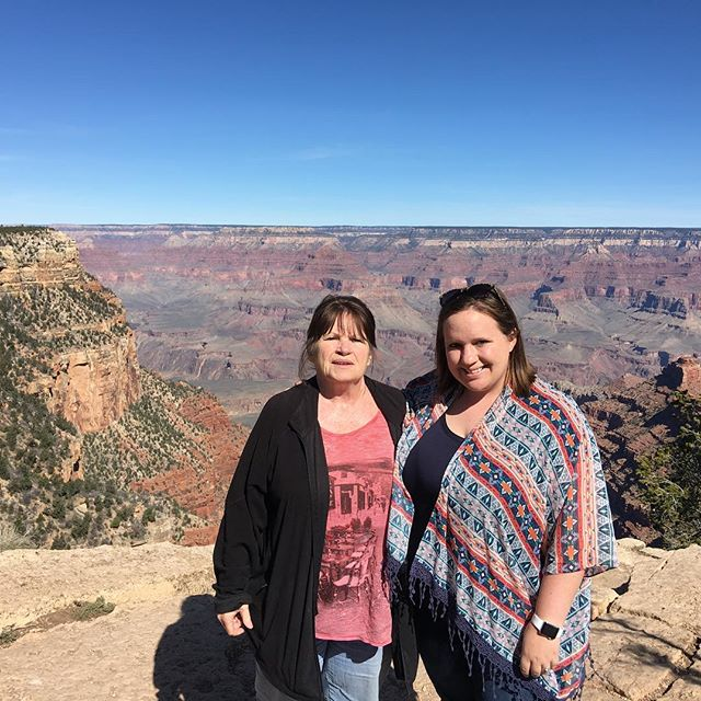 Judy and Sara at the Grand Canyon