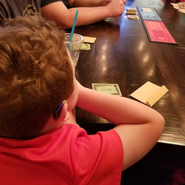 Took the kids to Frank and Joe's to hang out. They ended up joining some others playing board games.