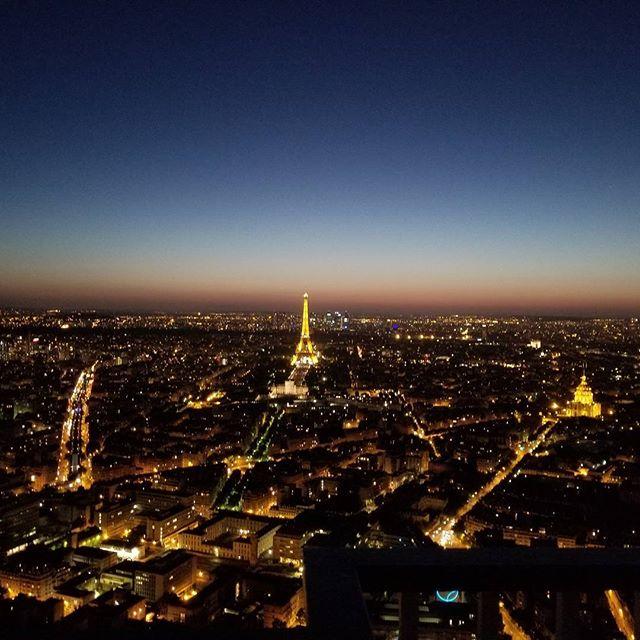 Eiffel tower from Montparnasse tower.