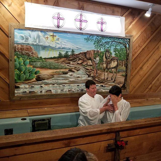 Austin got baptized today
