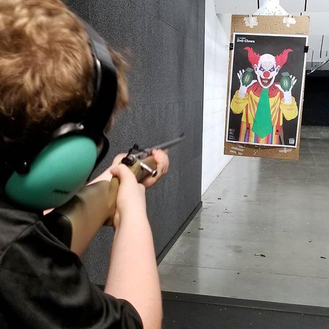 Took the kid to the indoor gun range today