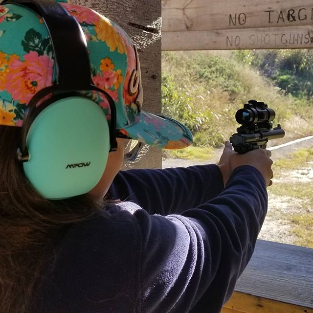 Destiny's first time shooting the Mark IV