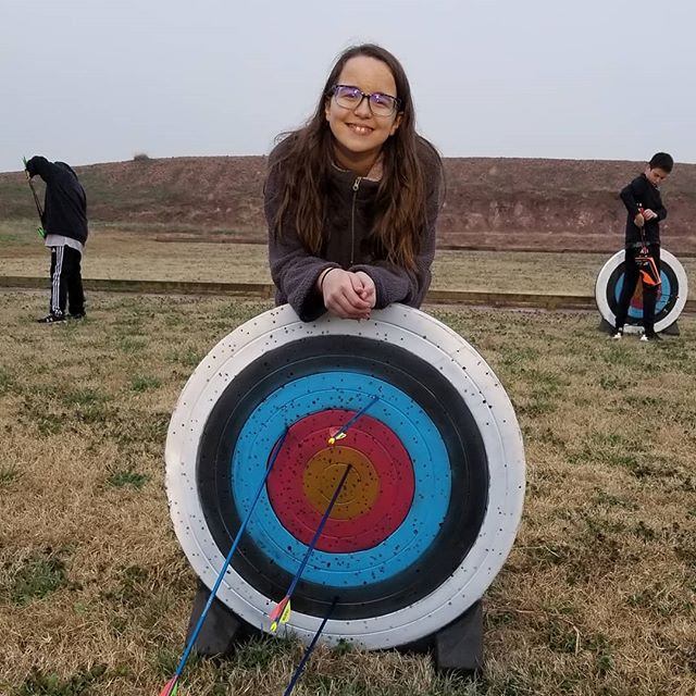 Destiny was proud of her bullseye this past week