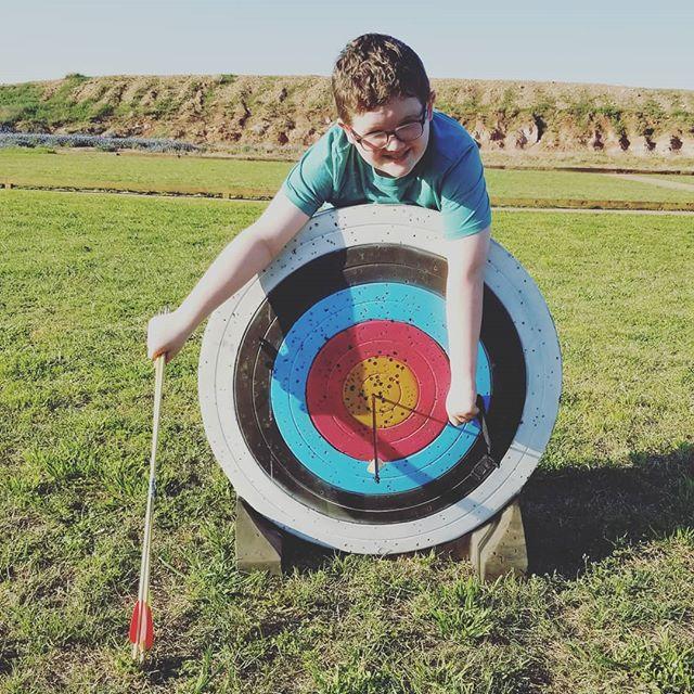 Hero was pretty proud of this bullseye