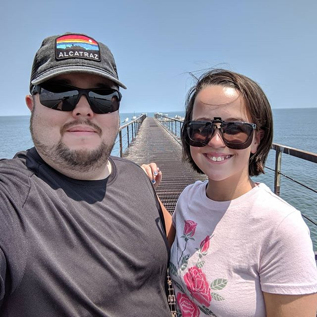 Walked the pier yesterday after checking in to the barracks at Camp Perry