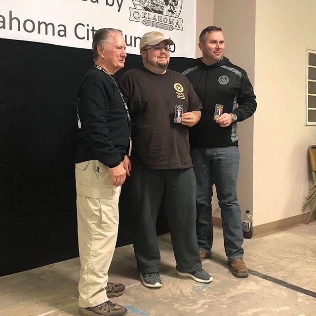 I took 1st place non-distinguished and won an 8 point leg for service pistol today. I was also 2nd overall for service pistol and was awarded a silver medal. My rimfire pistol results weren't so hot. ????