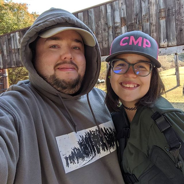 Destiny and I at the rifle match this morning
