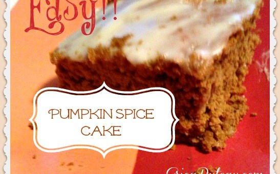 Easy Pumpkin Spice Cake With Cream Cheese Frosting #Recipe