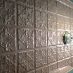 My New Entryway Tin Ceiling Tiles from The American Tin Ceiling Company! #DIY #HomeProject #tinstallation