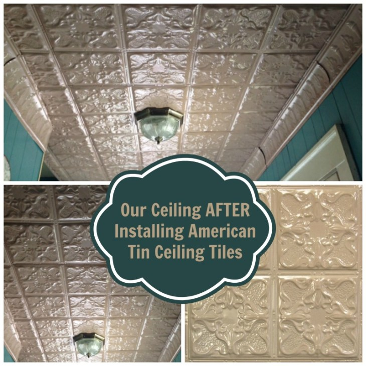 our ceiling after installing American Tin Ceiling Tiles