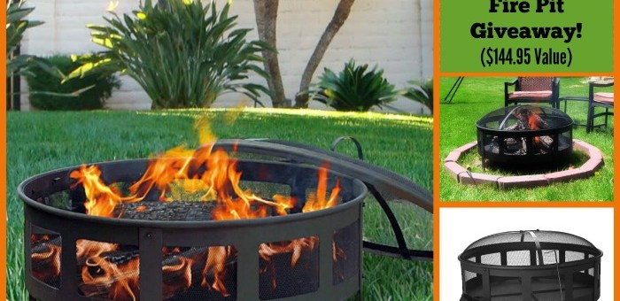 Sunnydaze Bravado Mesh Fire Pit #Giveaway ($145 Value) and Bonus #DIY Fire Pit #Infographic