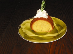 Sara's rosemary olive cake.