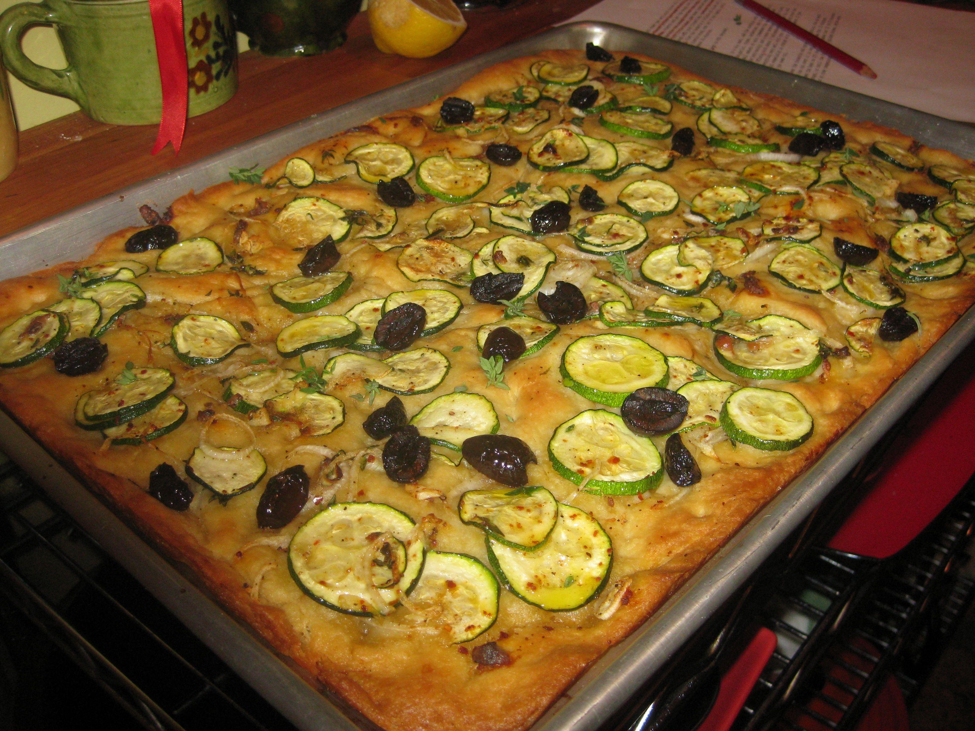 zucchini focaccia