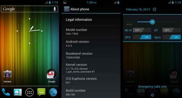 ICS on Samsung Vibrant