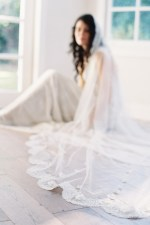 SILK WORM LACE MANTILLA BRIDAL VEIL