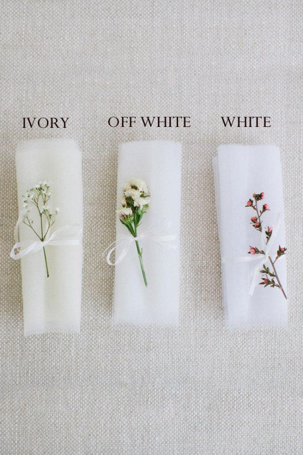 TULLE BRIDAL VEIL SWATCHES