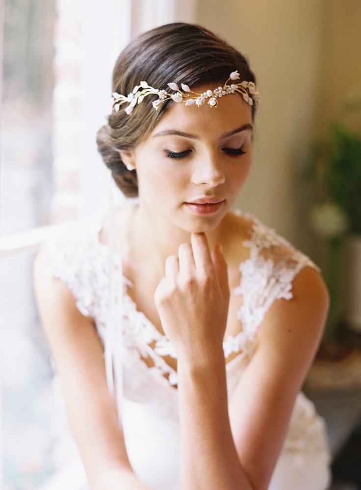Bridal Circlet Halo Flower Crown Wedding Crown Diadem