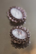 HERITAGE CAMEO BRIDAL SHOE CLIPS