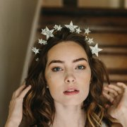 star wedding tiara, starburst, bridal crown, crystal tiara, hair accessories
