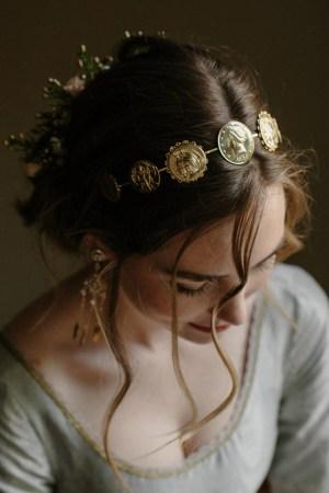 Fine Fortune Roman coin bridal headpiece