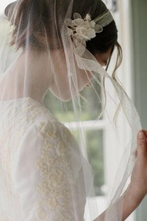 PORTIA JULIET SILK TULLE BRIDAL VEIL