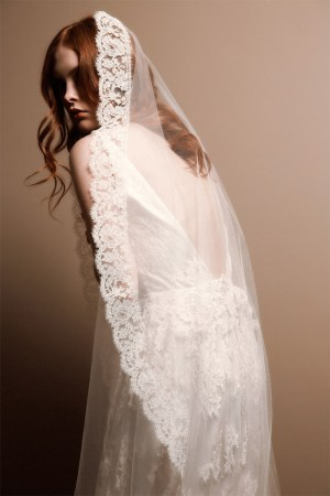 ENCHANTER'S NIGHTSHADE LACE MANTILLA BRIDAL VEIL