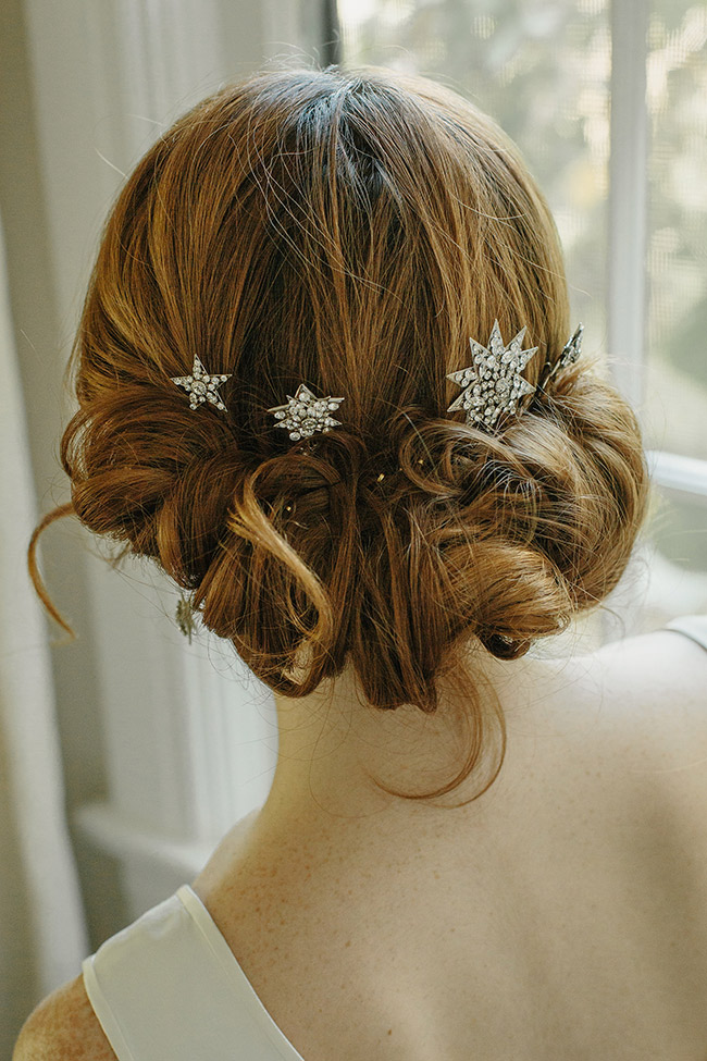Star Bridal Hair Pins Hair Accessory Crystal Wedding