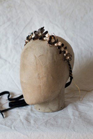 Black wedding crown