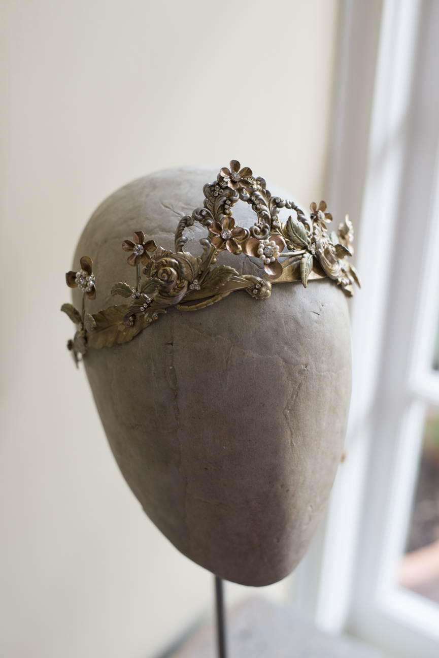 NANETTE ART NOUVEAU WEDDING CROWN