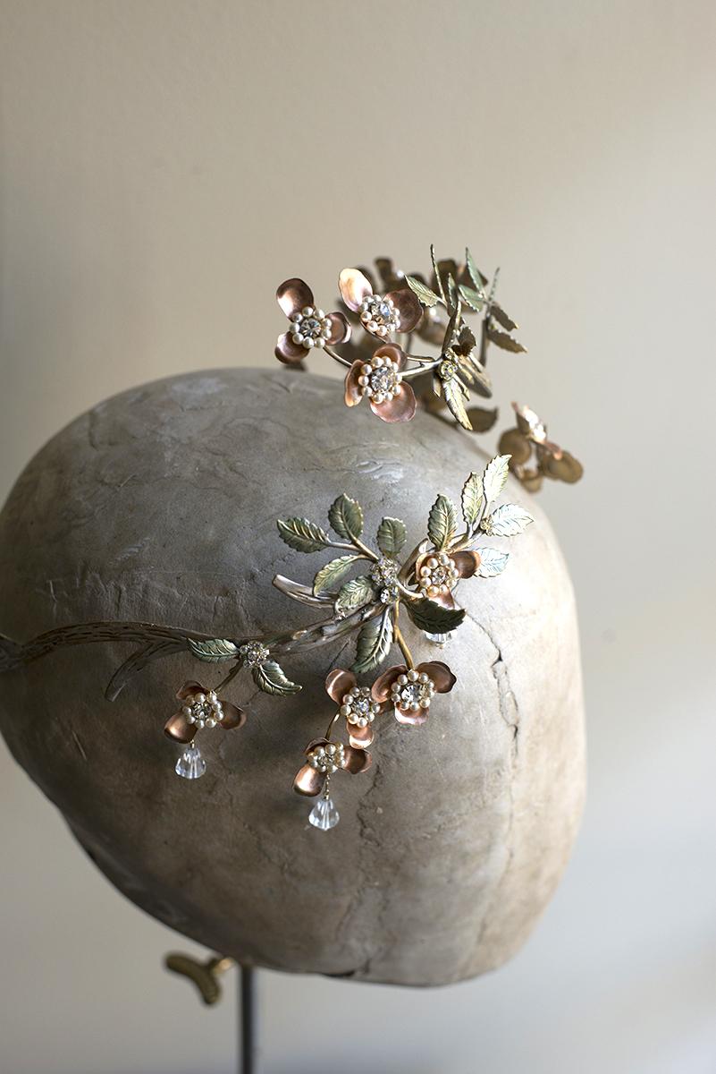 Erica Elizabeth designs wedding crowns