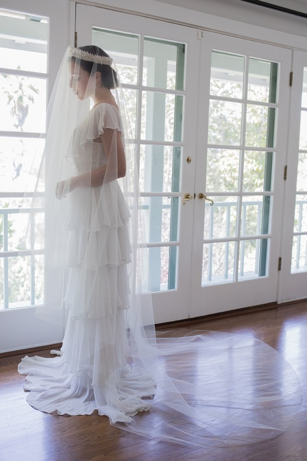 OLIVIA CATHEDRAL BRIDAL BLUSHER VEIL NO. 2305