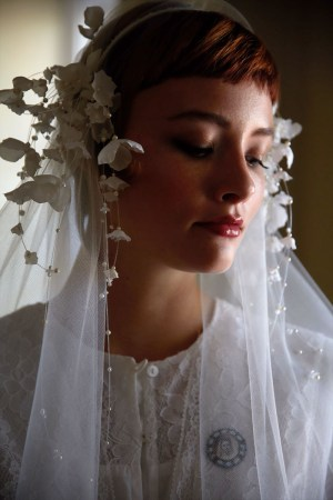 CLAUDETTE SILK FLOWER BRIDAL HEADBAND NO. 2306