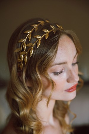 DELPHINE DOUBLE LAUREL LEAF HEADBAND