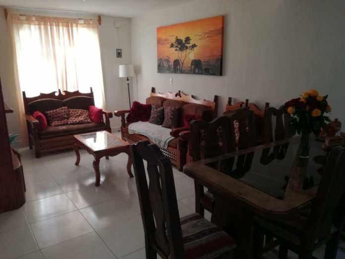 Picture of our living room in our house we rent in San Cristobal de las Casas, Chiapas, Mexico.