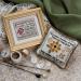 Silk gauze & linen pin cushion | Original counted thread designs by Linda Stolz for Erica Michaels Designs | EricaMichaels.com