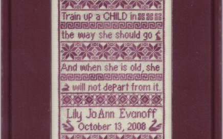 Proverbs Child | Original counted thread designs by Linda Stolz for Erica Michaels Designs | EricaMichaels.com