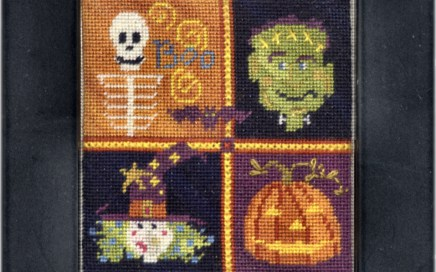 Scared Squared | Original counted thread designs by Linda Stolz for Erica Michaels Designs | EricaMichaels.com