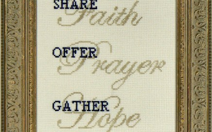 Share Faith | Original counted thread designs by Linda Stolz for Erica Michaels Designs | EricaMichaels.com