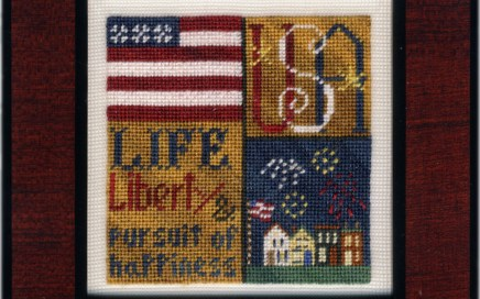 Liberty Squared | Original counted thread designs by Linda Stolz for Erica Michaels Designs | EricaMichaels.com