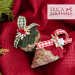 Mistletoe Kisses - berry top treatments | Erica Michaels Needleart Designs