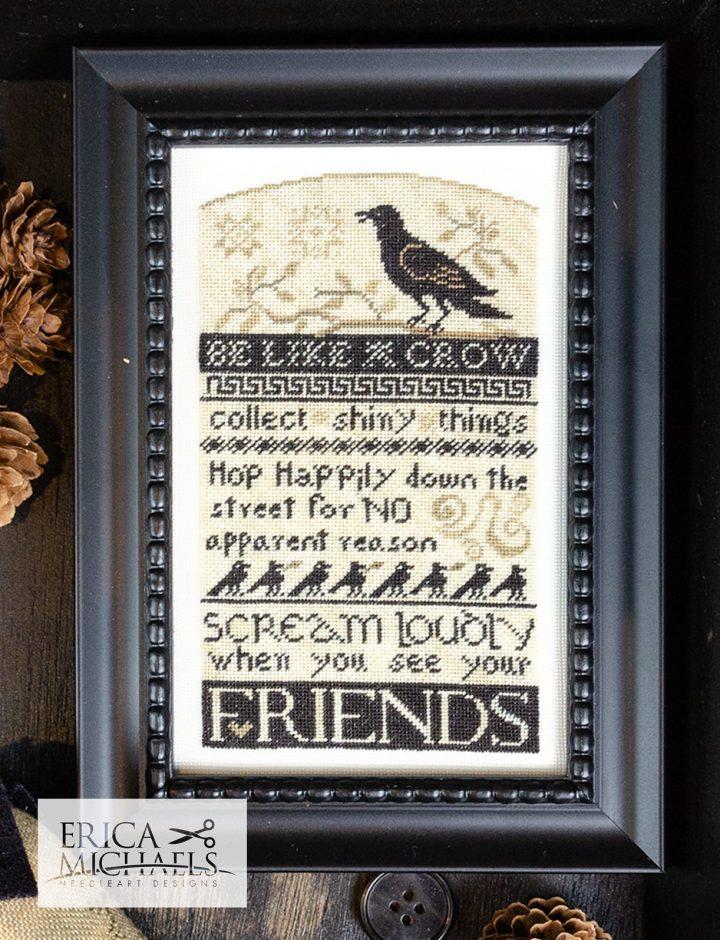 Be Like a Crow - on 35 count silk gauze