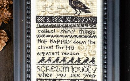 Be Like a Crow - on 35 count silk gauze