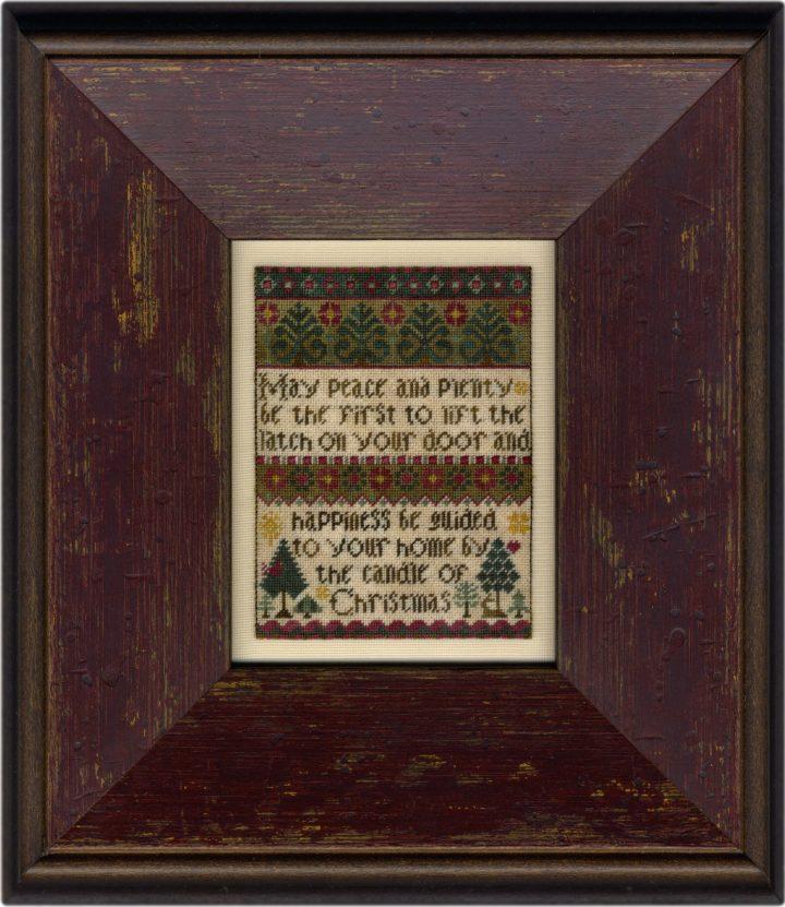 Christmas Blessing on silk gauze
