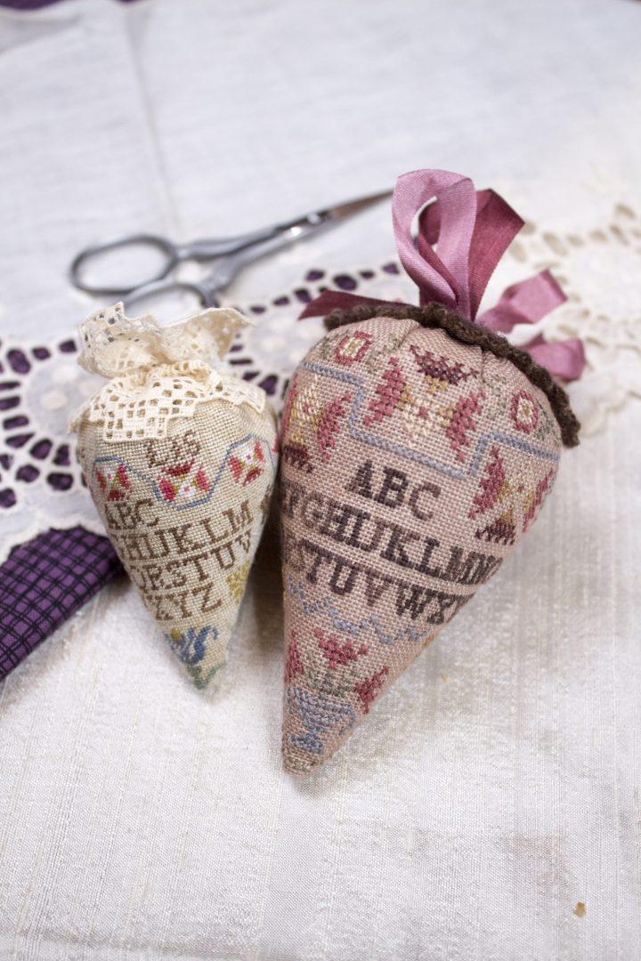 Sampler Berry - silk and linen