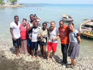 PPM Haiti Staff at Ghilou Beach