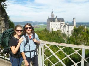 Dwain and Sarah at a Castle